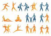 Icons symbols human figures