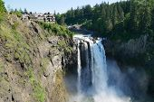 The Snoqualmie Falls In Northwest United States, Located East Of Seattle On The Snoqualmie River Bet poster