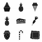 Confectionery Product Icons Set. Simple Set Of 9 Confectionery Product Icons For Web Isolated On Whi poster