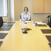 Portrait of businesswoman in conference room