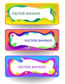 Abstract Vector Banner Set