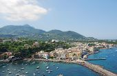 Panoramic view of Ischia islad