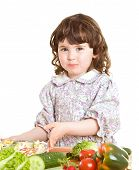 Daughter Cooking At The Kitchen poster