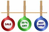 Sale Icons On The Cord
