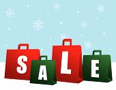 Christmas Sale Shopping Bags