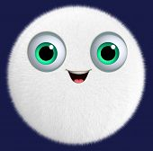 3D Cartoon Cute Furry Ball
