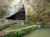 pic of he is risen  - Huge entry to the famous cave in Serbia - JPG