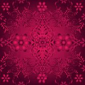 Seamless Floral  Vinous Pattern