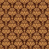 Seamless Brown Damask
