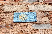 stock photo of ceres  - santiago signal path wall tiles made  - JPG