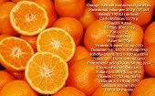 oranges, nutrition facts, text