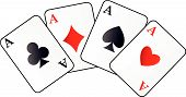 pic of playing card  - Abstract vector illustration of four aces on white - JPG