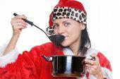 Cooking Santa poster