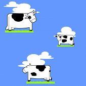 Three Cow Tile