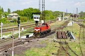 foto of retarded  - Shunter on a retarder of a hump yard in Ukraine - JPG