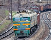 foto of dnepropetrovsk  - Heavy electric coal train in Ukraine - JPG