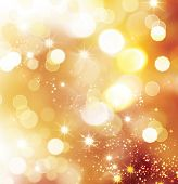 stock photo of gold-dust  - Golden Abstract Bokeh Background - JPG