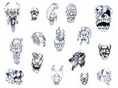 Set Of Tattoo Patterns