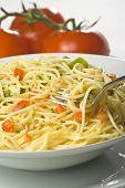 Natural Fresh Spaghetti Tomato Sauce And Asparagus poster