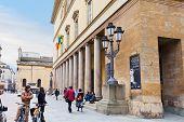 Teatro de colunata de Regio Di Parma - Opera House, em Parma, Itália