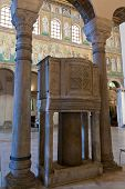 Ancient Pulpit In Sant Apollinare Nuovo, Ravenna