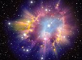 stock photo of cluster  - Supernova explosion illustration - JPG