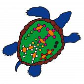 Feng Shui Turtle Graphic Sign