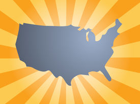 picture of united states map  - Map of the United States of America - JPG