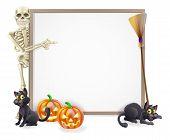 Halloween Skeleton Sign