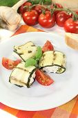Fresh Delicious Stuffed Courgette Rolls
