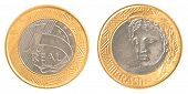 One Brazilian Real Coin