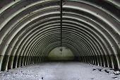 Former soviet missile hangar