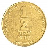 Half Israeli New Sheqel Coin