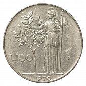 100 italian lira coin