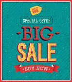 Big Sale Typographic Design.