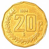 20 Mexican Peso Cents Coin