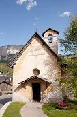 Small Old Catholic Church In Cortina D'ampezzo