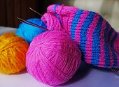picture of knitting  - Pink - JPG