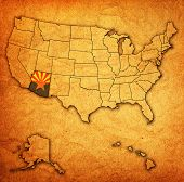 Arizona On Map Of Usa