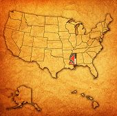 Mississippi On Map Of Usa