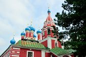 stock photo of uglich  - The church was built at the place of the murder of Prince Dimitry - JPG