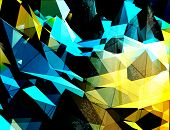 picture of triangular pyramids  - Abstract 3D triangles vector background - JPG