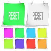 Reset. Raster note papers. Vector version is in portfolio.
