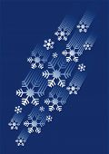stock photo of bordure  - Stream of the snowflakes for winter background - JPG