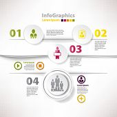 Modern Infographic Template For Business Design With Cutout And Divides