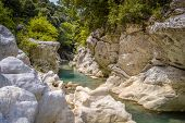 stock photo of hade  - Acheron river in Greece know as mystic river or river of Hades - JPG