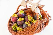 An Exotic Fruit Basket Of Mangosteen And Zalacca Perfect Idea For Any Occasion