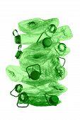 Stack Of Green Plastic Bottles