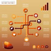 Fall Season Infographic Network Elements Autumn Graphics Template.