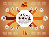 Autumn Season Infographic Elements Fall Graphic Template Eps10 File.